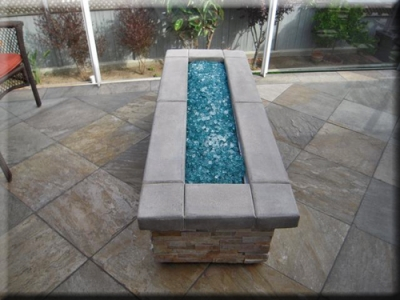 custom portable fire pit with fire glass 16