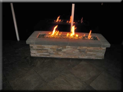 custom portable fire pit with fire glass 21
