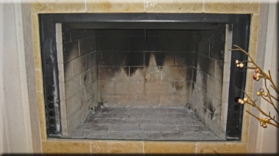 custom propane fireplace pan with glass 2