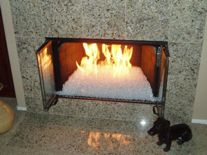 Self Install Fireplaces With Glass and Ice, FireGlass, Fire Glass ...