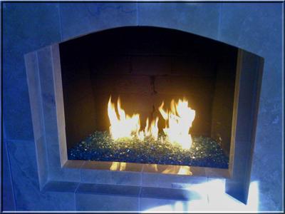 Very nice Fireplace Design. - Fireplace Glass, Fireplaces, Fire Glass, Fire Pit Glass. Fireplace