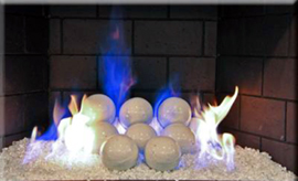 Fireplace fire balls