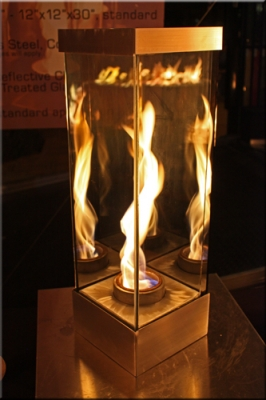 VortexEd 55 indoor recreational fire in glass feature