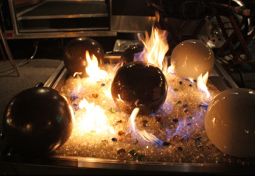 decorative balls for glass fire pits