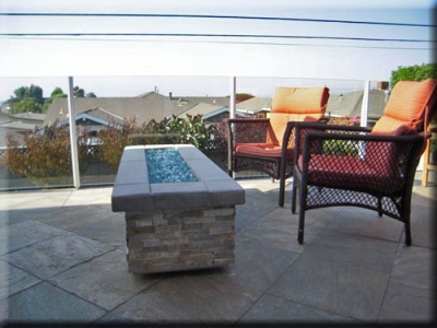 custom portable fire pit with fire glass 13