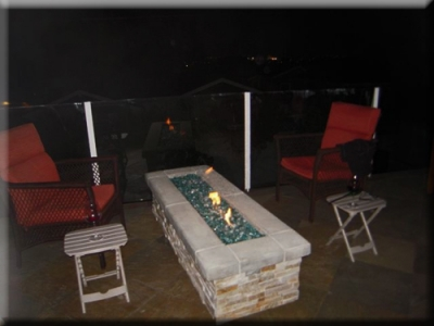 custom portable fire pit with fire glass 20