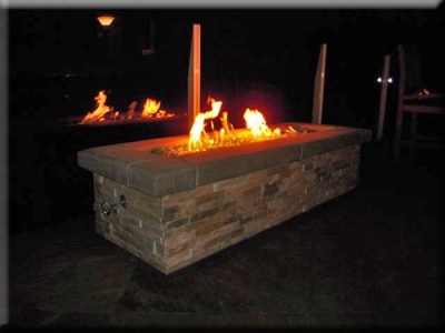 custom portable fire pit with fire glass 22