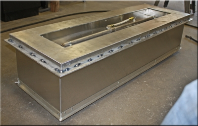 custom portable fire pit with fire glass 8