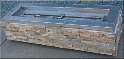 custom portable fire pit with fire glass 10