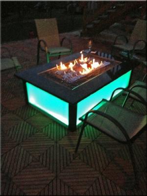 Aquatic Glassel Moderustic Fire Pit Fire Glass Design