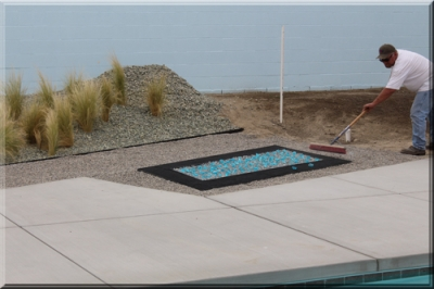 In Ground Palm Springs Corten Steel Fire Pit