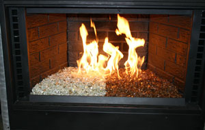 Self Install Fireplaces With Glass and Ice, FireGlass ...